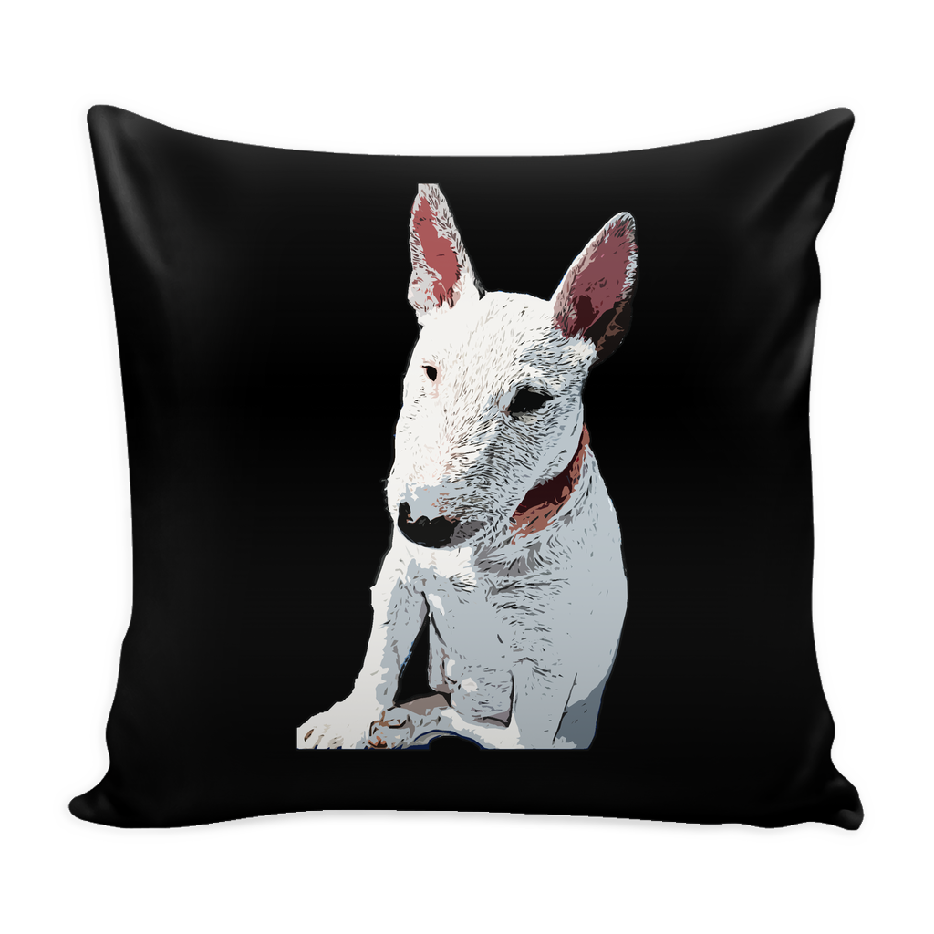 Bull Terrier Dog Pillow Cover - Bull Terrier Accessories - TeeAmazing
