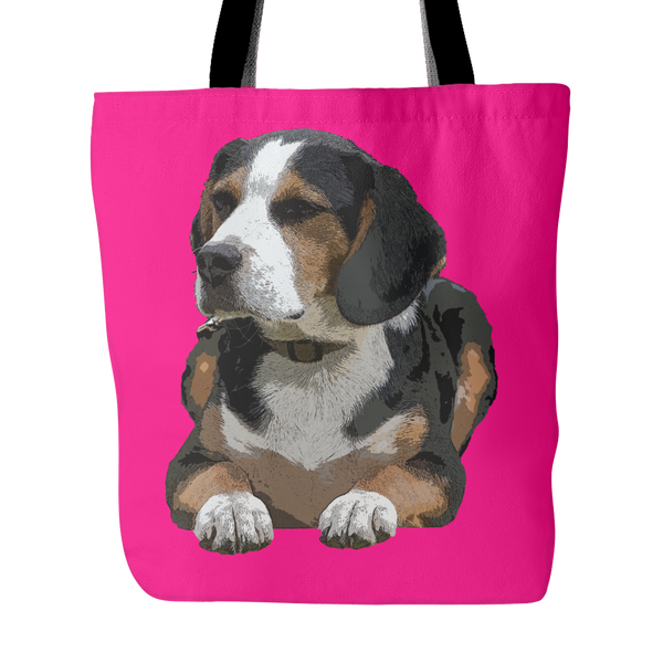Painting Beagle Dog Tote Bags - Beagle Bags - TeeAmazing - 4