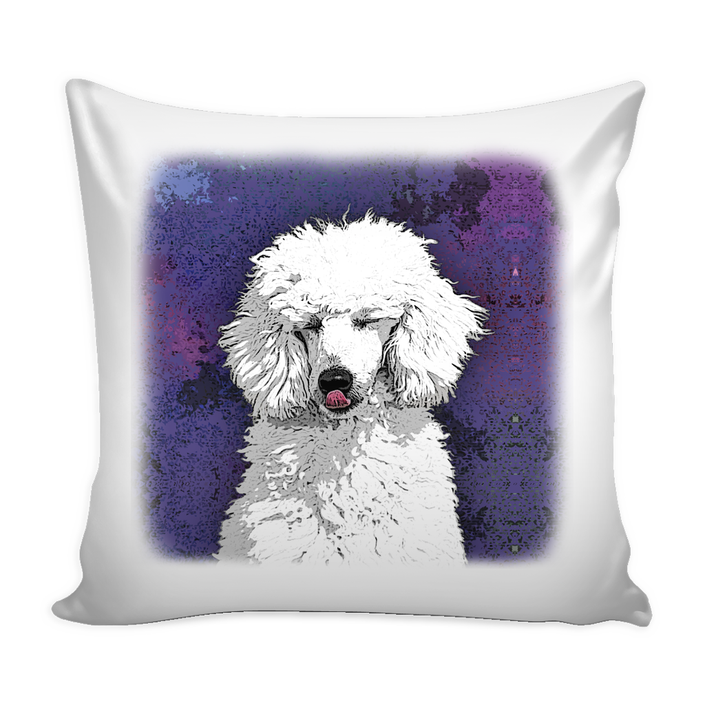 Painting Poodle Dog Pillow Cover - Poodle Accessories - TeeAmazing