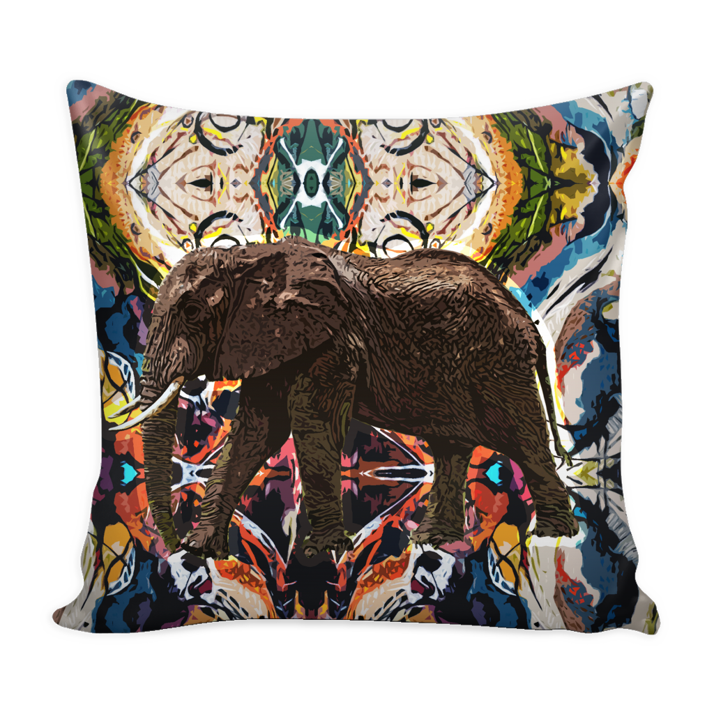 Elephant Pillow Cover - Elephant Accessories - TeeAmazing