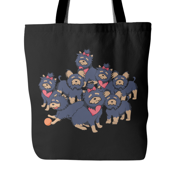 Pattern Yorkshire Terrier Dog Tote Bags - Yorkshire Terrier Bags - TeeAmazing - 3