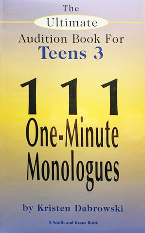 THE ULTIMATE AUDITION BOOK FOR TEENS Vol lll