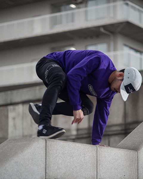 Vaults101®︎ 2nd drop purple parkour shot