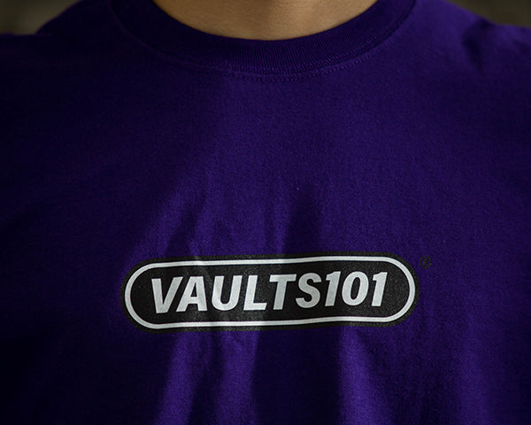 Vaults101®︎ 2nd drop purple logo