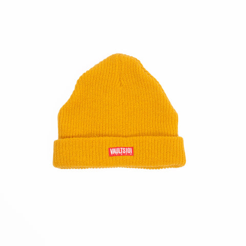 VAULTS101 RIBBED BEANIE CAP 【YELLOW】