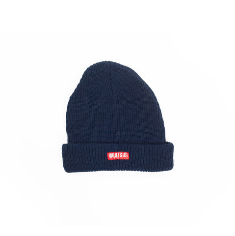 VAULTS101 RIBBED BEANIE CAP 【NAVY】