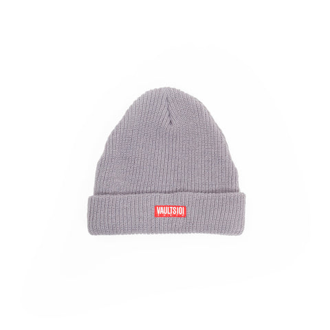 VAULTS101 RIBBED BEANIE CAP 【GRAY】
