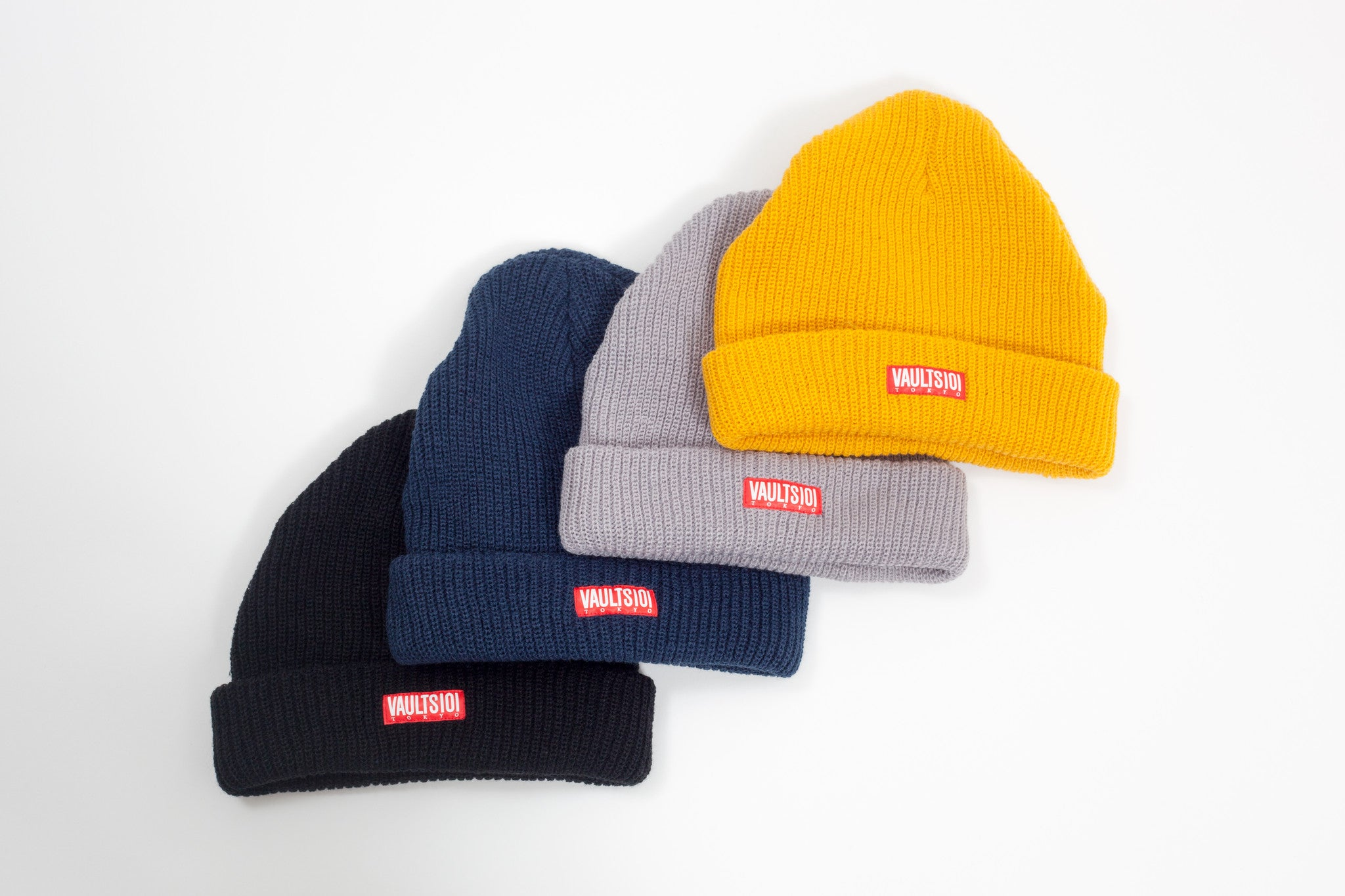 VAULTS101TOKYO RIBBED BEANIE CAP 【YELLOW】