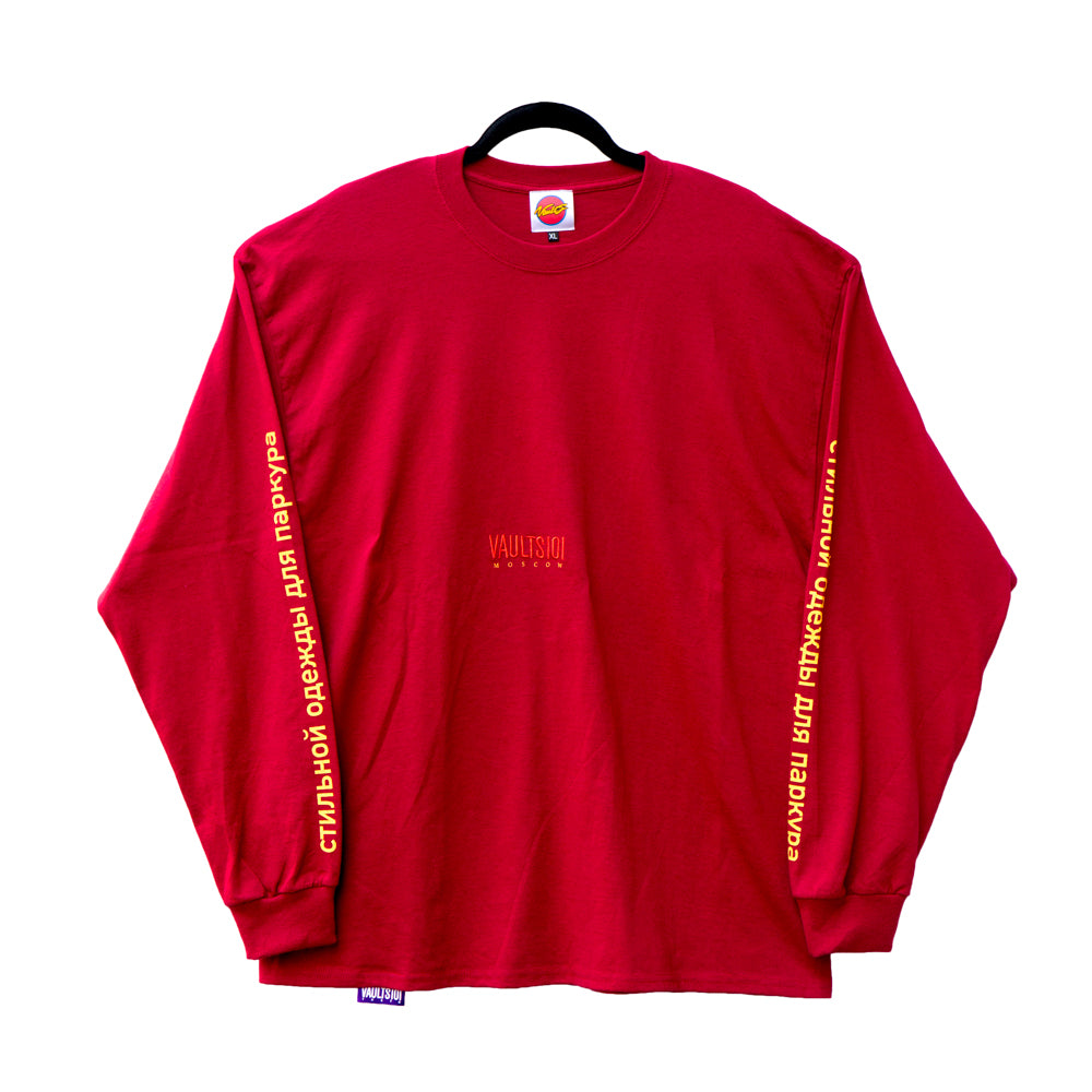 VAULTS101MOSCOW LONG SLEEVE 【WINE】