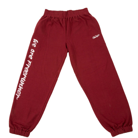 "VAULTS101 ""WE ARE FREERUNNER"" SWEAT PANTS 【RED】"