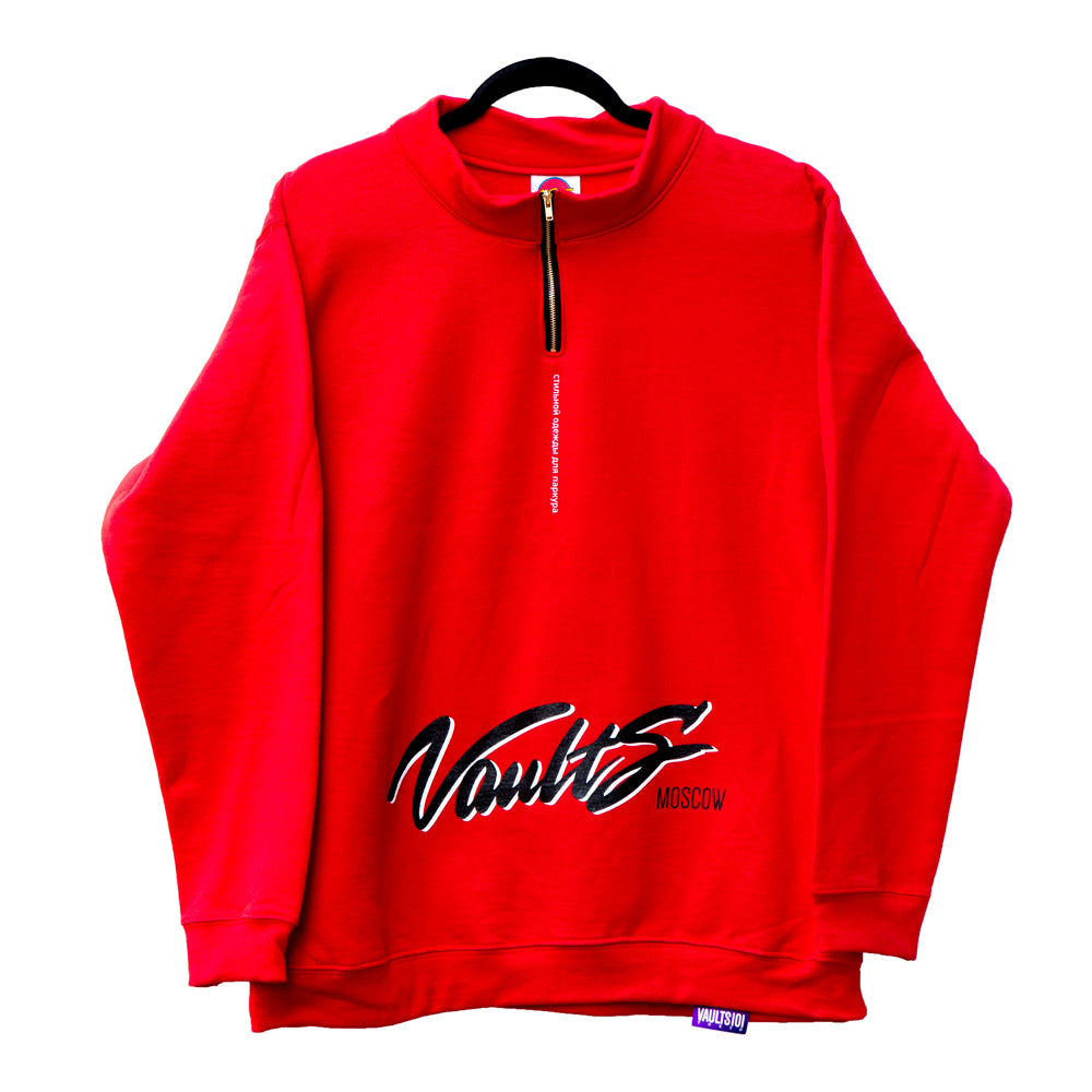 VAULTS101MOSCOW SWEAT SHIRTS 【RED】