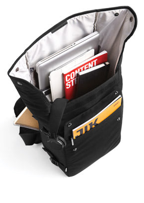 Fit in you books and other stuff into the backpack's front pocket