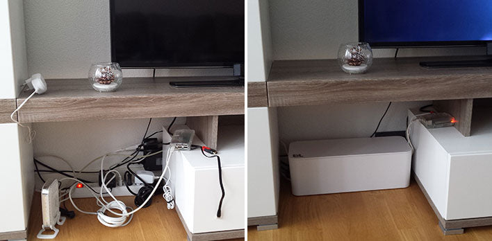 Living Room Cable Organizer