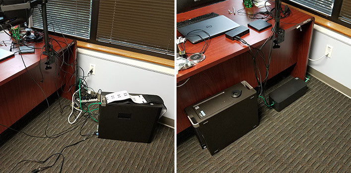 office cable management. I\u0027m An IT Manager And I Needed My PC At Work To Look Good, So When Was Looking Cable Management Solutions Ran Across CableBox, LOVE IT! Office E