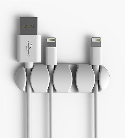 CableDrop Multi White with Apple Lightning and USB cables