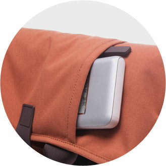 Front zippered pouch