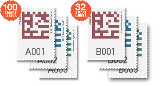 100 or 32 Smart Labels