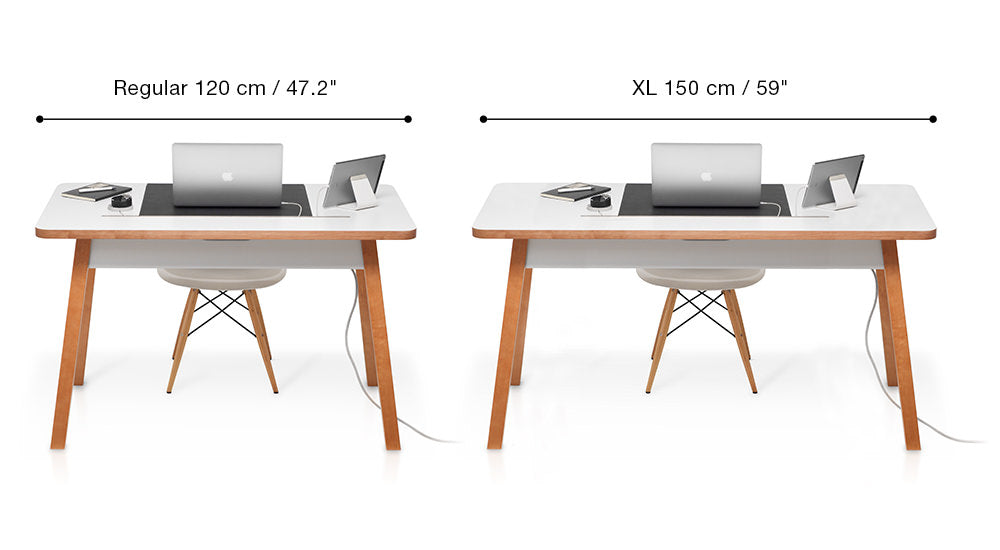 Comparison between StudioDesk Regular and XL
