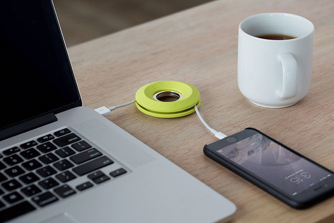 Cableyoyo can also keep charging cables coiled.