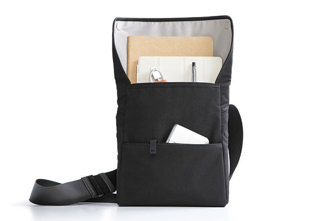 A main compartment can be used to transport your tablet