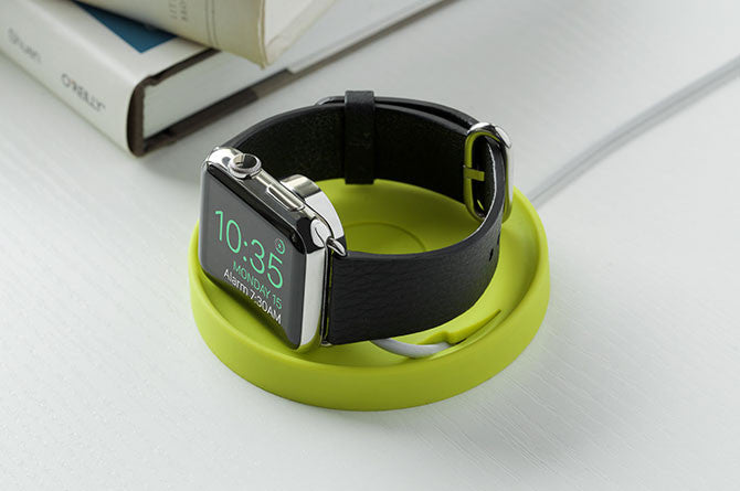 Kosta uses the existing Apple Watch charger to create a neat nook to charge