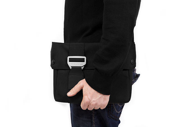 Designed to carry on its own, the Laptop Sleeve has a solid aluminium buckle for a sleek look