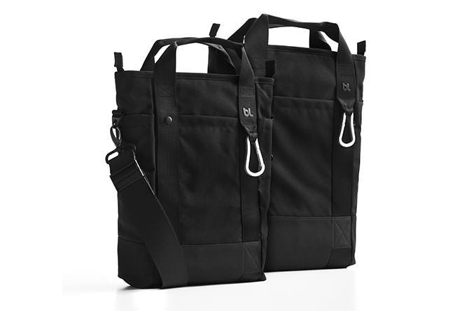 The Laptop Tote comes in a medium and small size