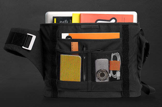 Perfectly sized to carry a laptop, tablet and so much more, the Messenger Bag is a great all purpose bag