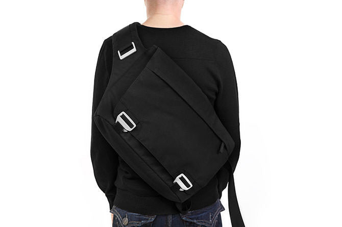 The Messenger Bag can be adjusted tight to the body for biking or commuting