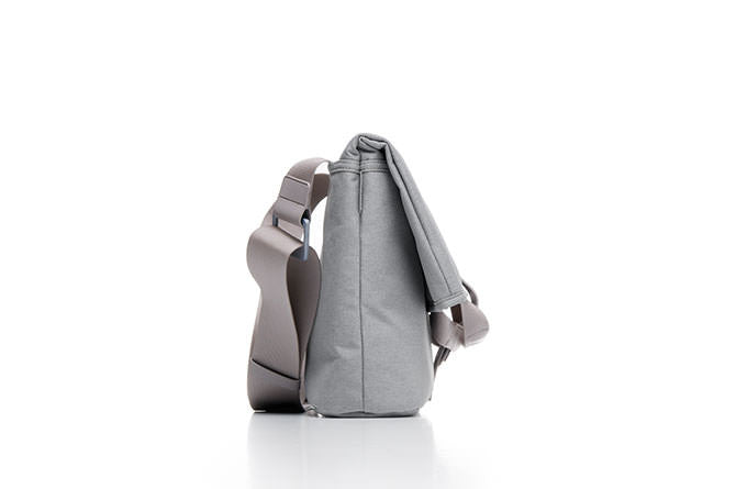 The Postal Bag can be used in a messenger style for small laptops and tablets