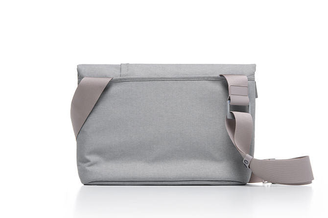 The Postal Bag has a single shoulder strap to carry messenger style