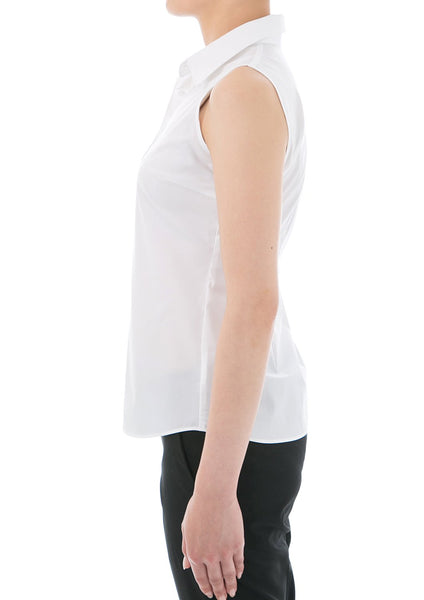 Premium Stretch & Easy Care Sleeveless White - LEONIS SHIRTS & FAVORITES