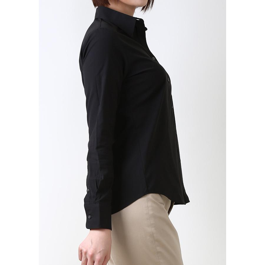 Premium Stretch & Easy Care Long Sleeve Black - LEONIS SHIRTS & FAVORITES