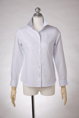 Easy Care Soft Oxford Dobby Long Sleeve Shirt Pale Blue - LEONIS SHIRTS & FAVORITES