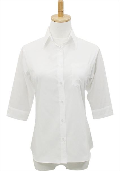 Premium Stretch & Easy Care 1/2 Sleeve White - LEONIS SHIRTS & FAVORITES