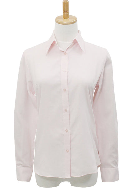 Easy Care Soft Oxford Dobby Long Sleeve Shirt  Pink - LEONIS SHIRTS & FAVORITES