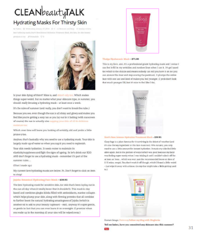 Blog_CLEAN BEAUTY TALK_Botanical Hydrating Face Mask_JAN 2016