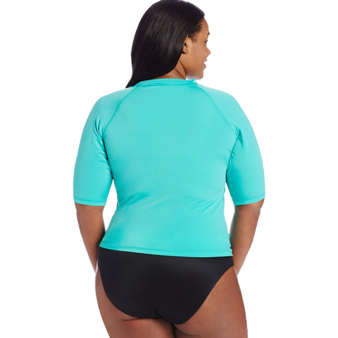 Kanu Surf Women's Plus Size Breeze Rashguard Top