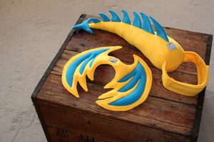 Kids Dragon Costume - Yellow and Blue