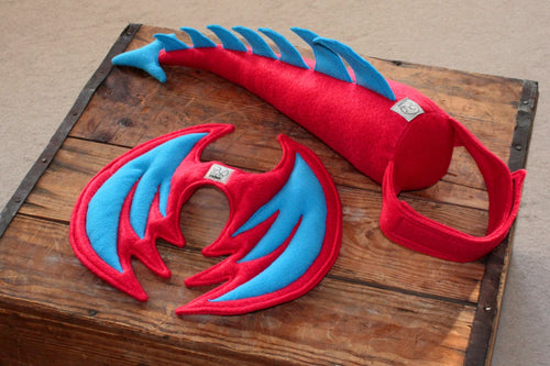 Kids Dragon Costume - Red and Blue