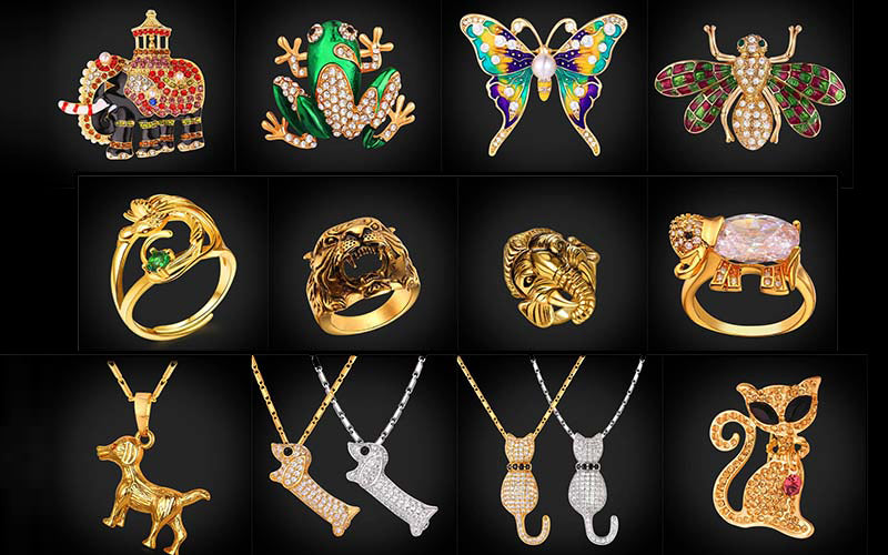 18K Gold Plated Animal Jewelry Wholesale