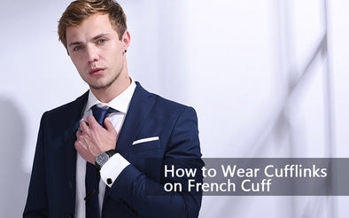 How to Wear Cufflinks on French Cuff