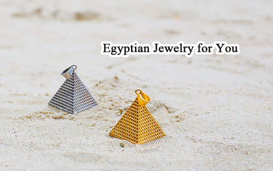 Egyptian jewelry pyramid designed pendant necklace