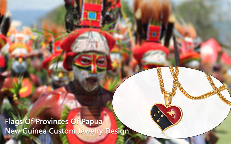 Flags Of Provinces Of Papua New Guinea Custom Jewelry Design