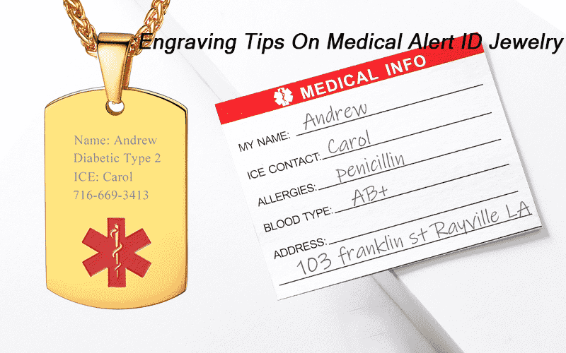 Engraving Tips On Medical Alert Bracelet