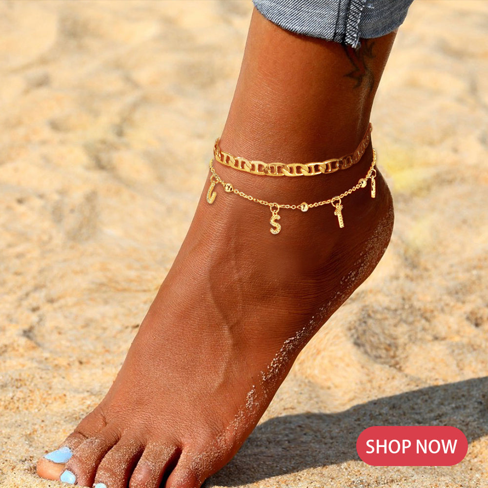Custom Initial Anklets