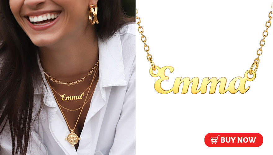Minimalist Personalized Classic Name Necklace For Women Girls