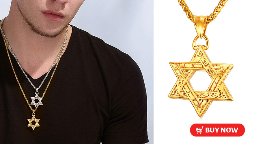 Personalized Engraved Star of David Necklace