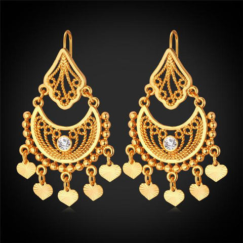 2.Oversized Chandelier Earrings