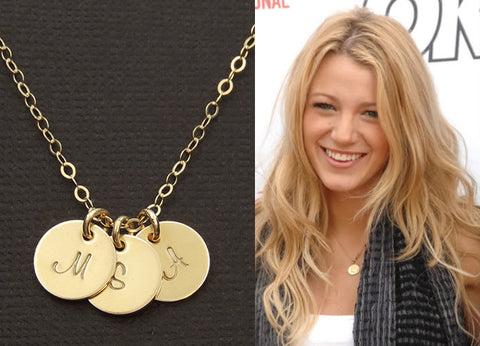 2017 Jewelry Trend  Gold Plated Alphabet Pendant -Britney Spears(2)